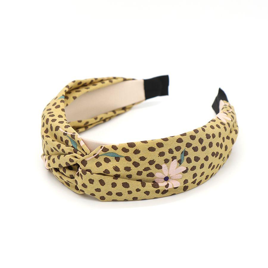 Headband Khaki Floral Fabric