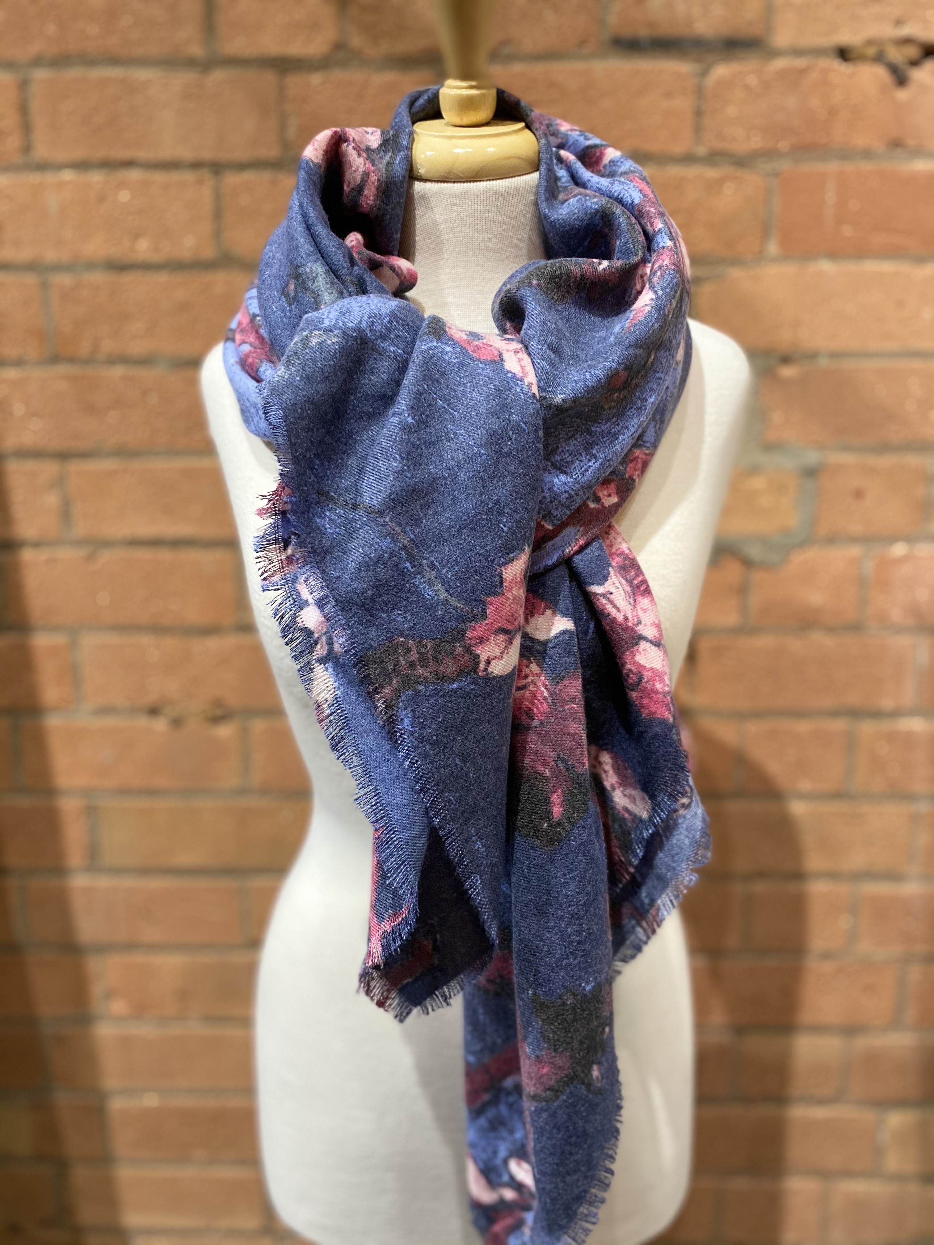 Orchid Pink Navy Scarf