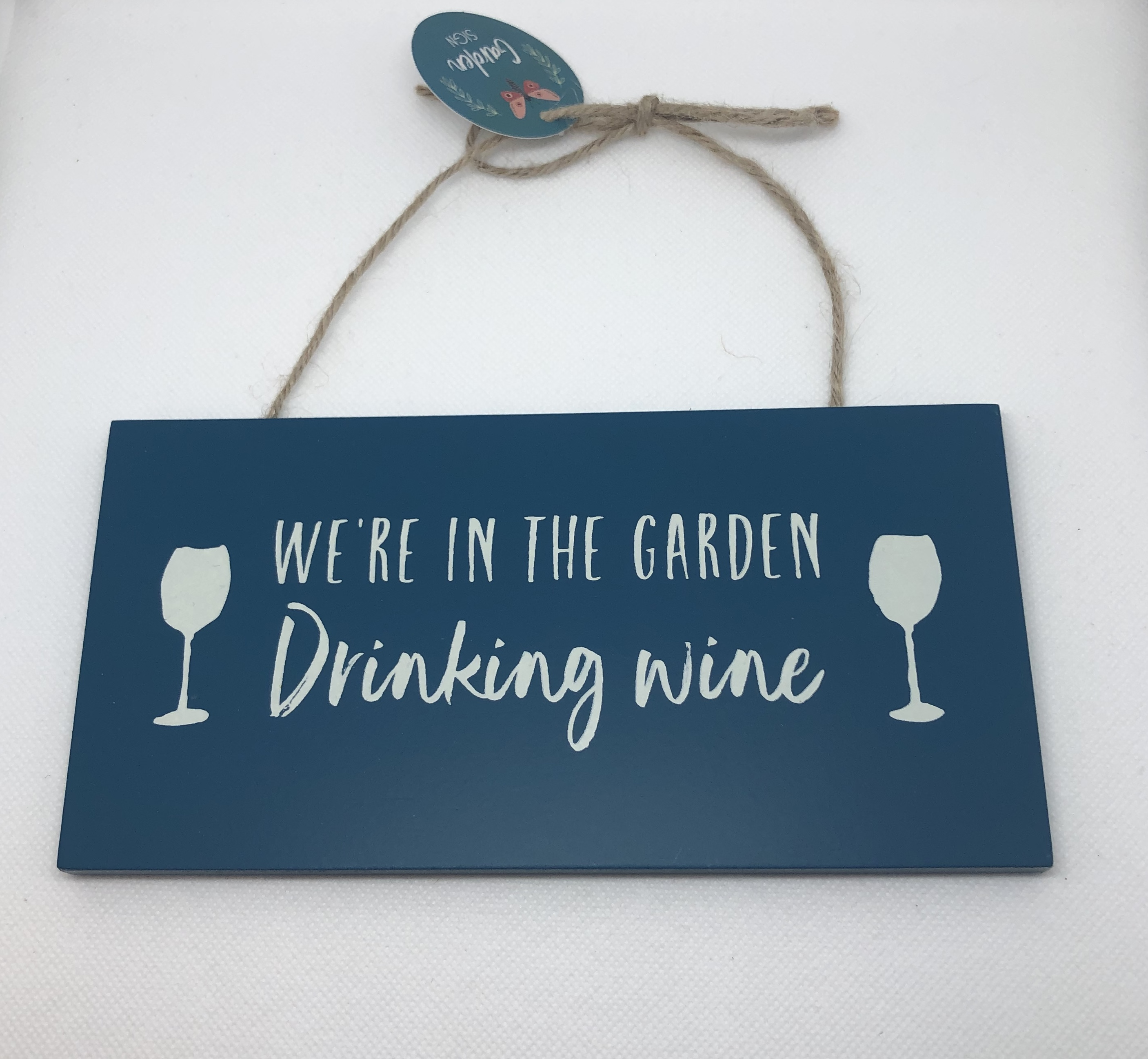 Plaque - Garden Drinking Wine