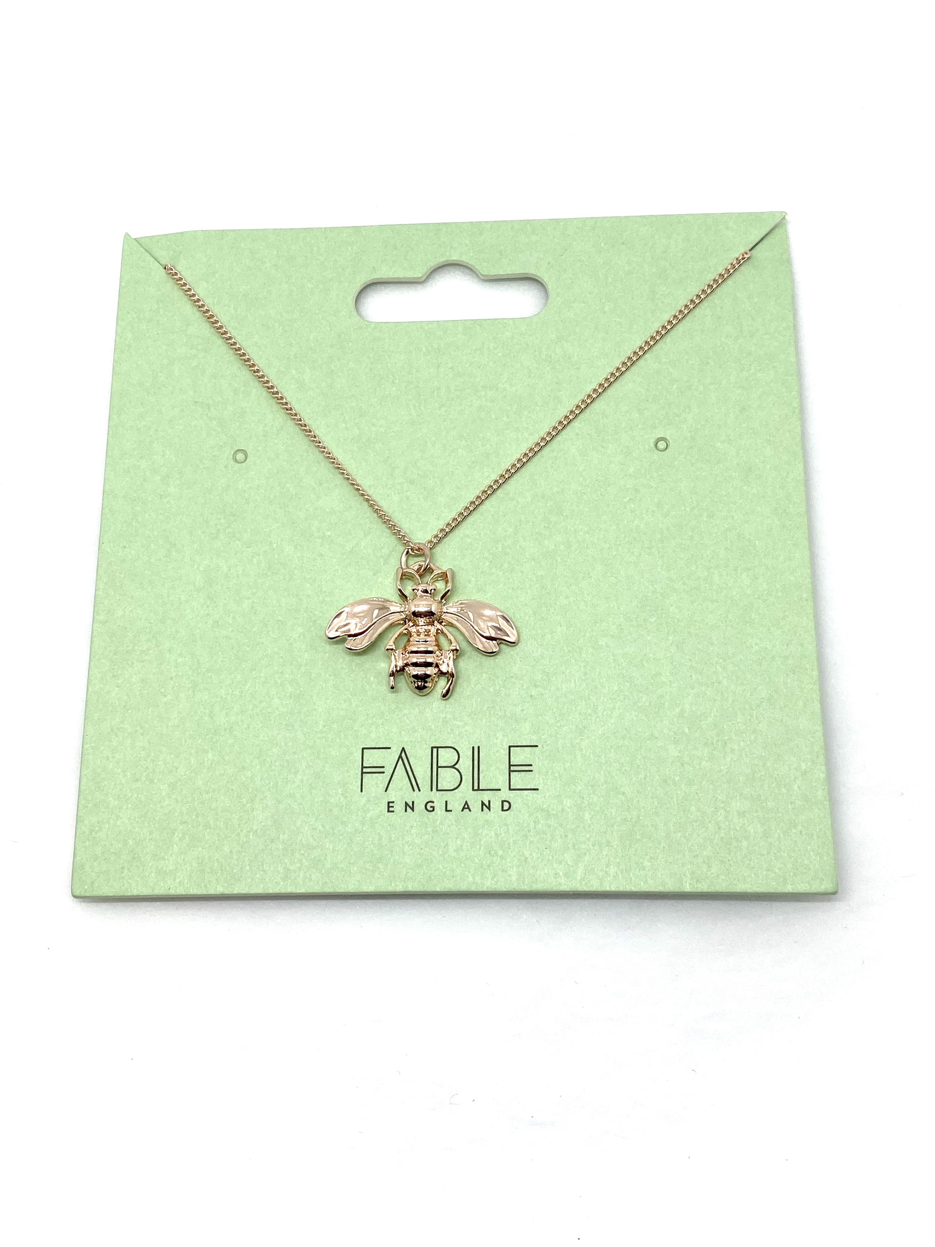 Necklace (Jewel City) Bee Pendant Rose Gold