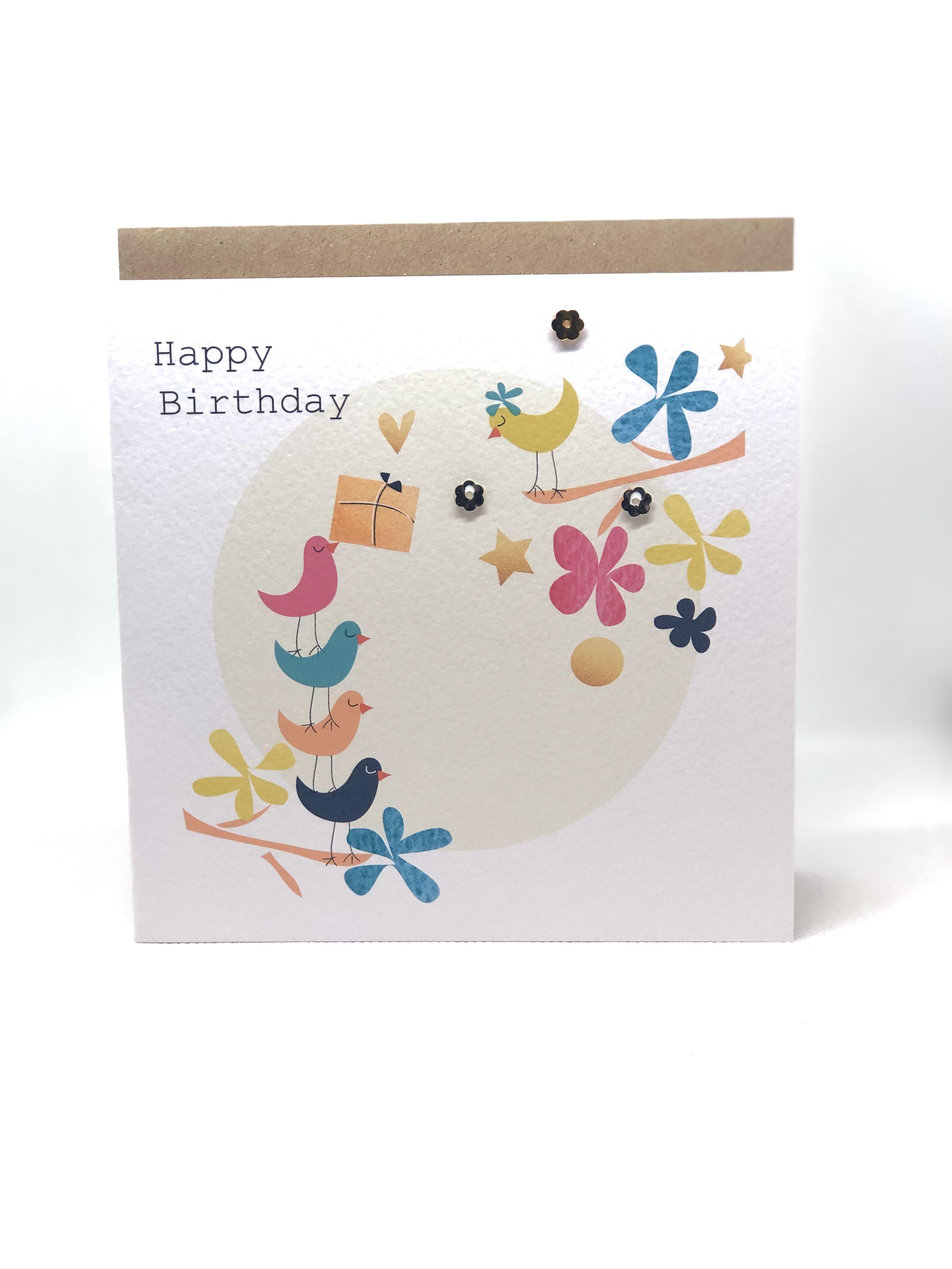 Birthday Birds & Flowers
