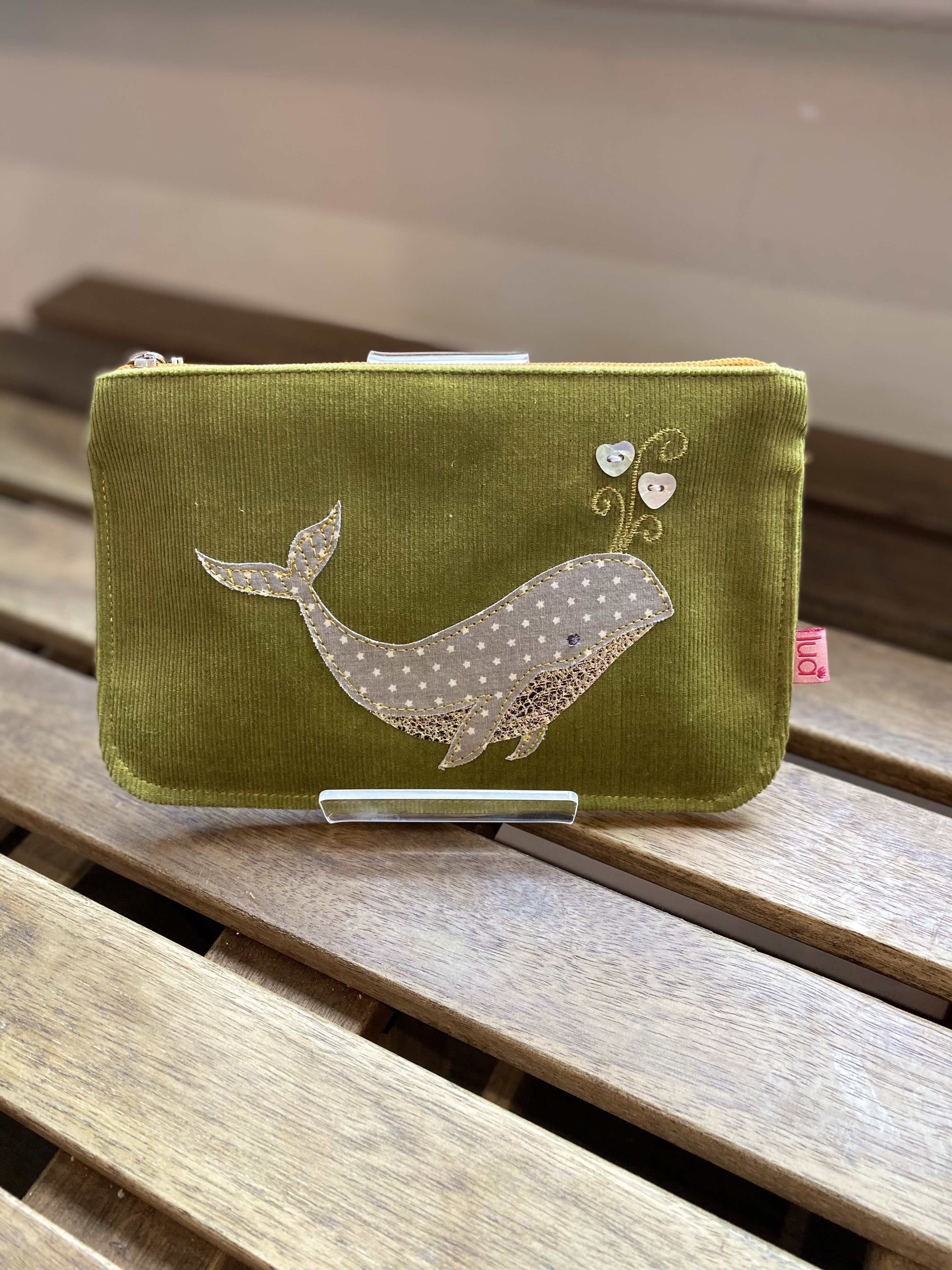 Lua Green Large Whale Purse SALE Now £10.00