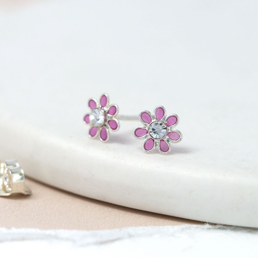 Sterling Silver Small Tiny Flower Studs