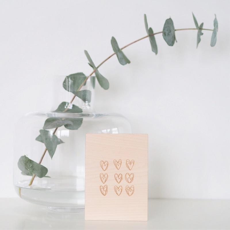 Sydän-kortti Puine