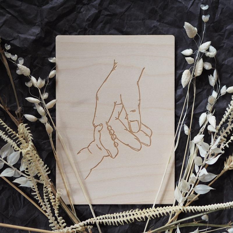 Kädet puinen kortti - Puine