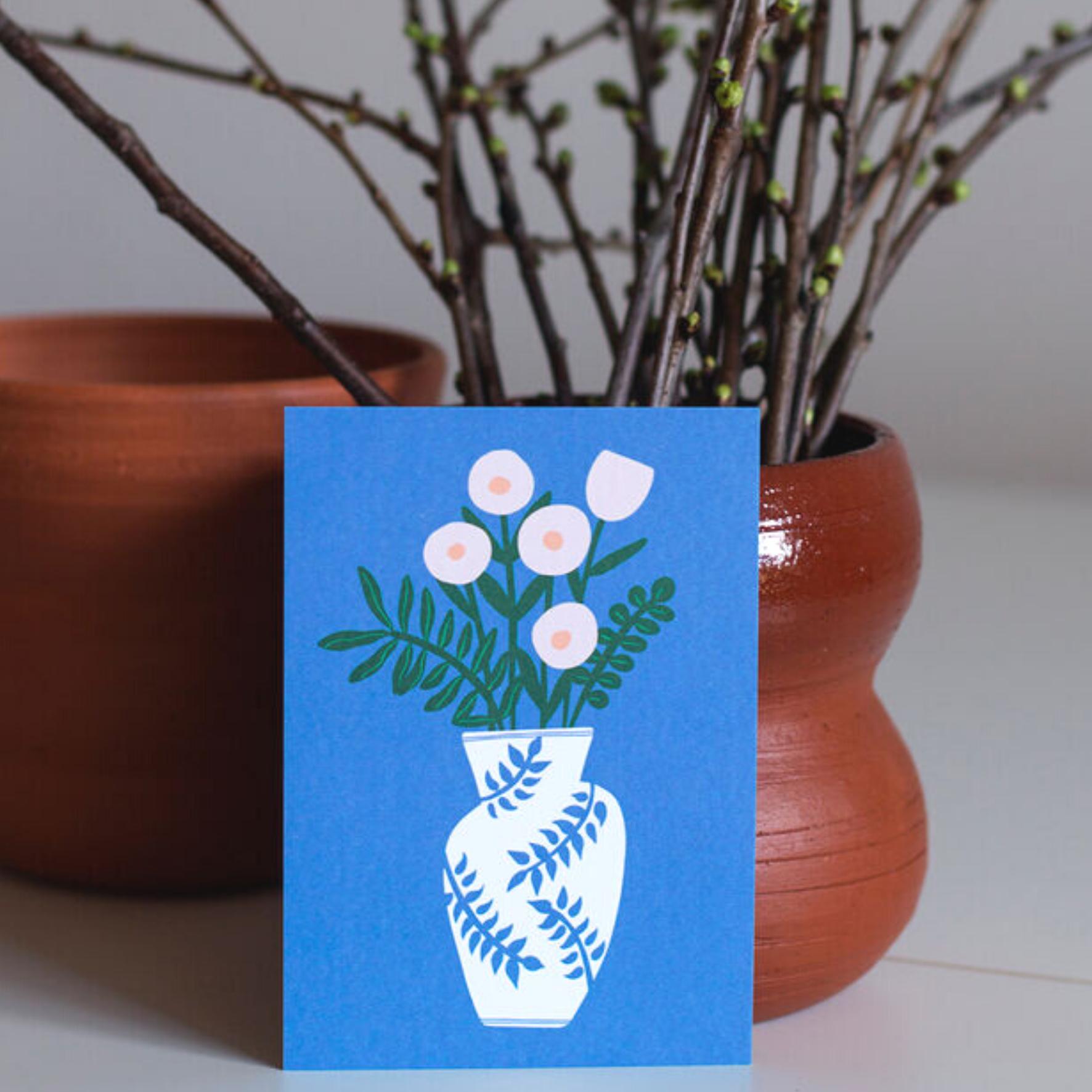 Kukkamaljakko postikortti - Kuviokioski