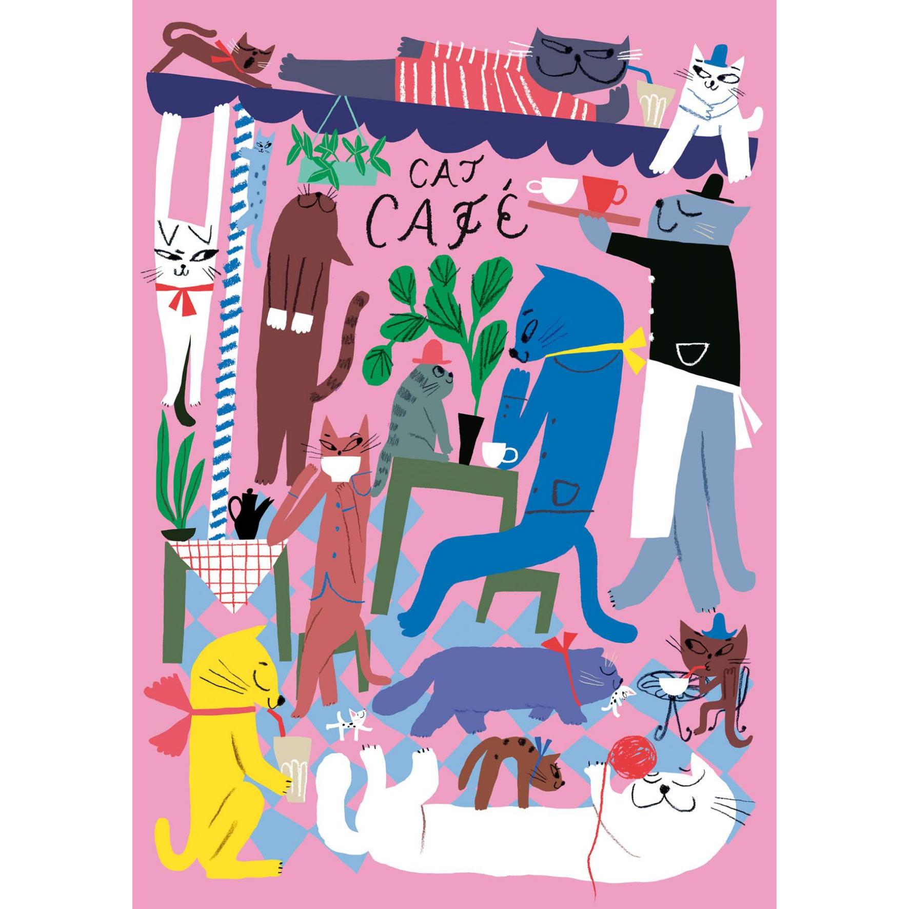 Cat cafe postikortti - Marika Maijala