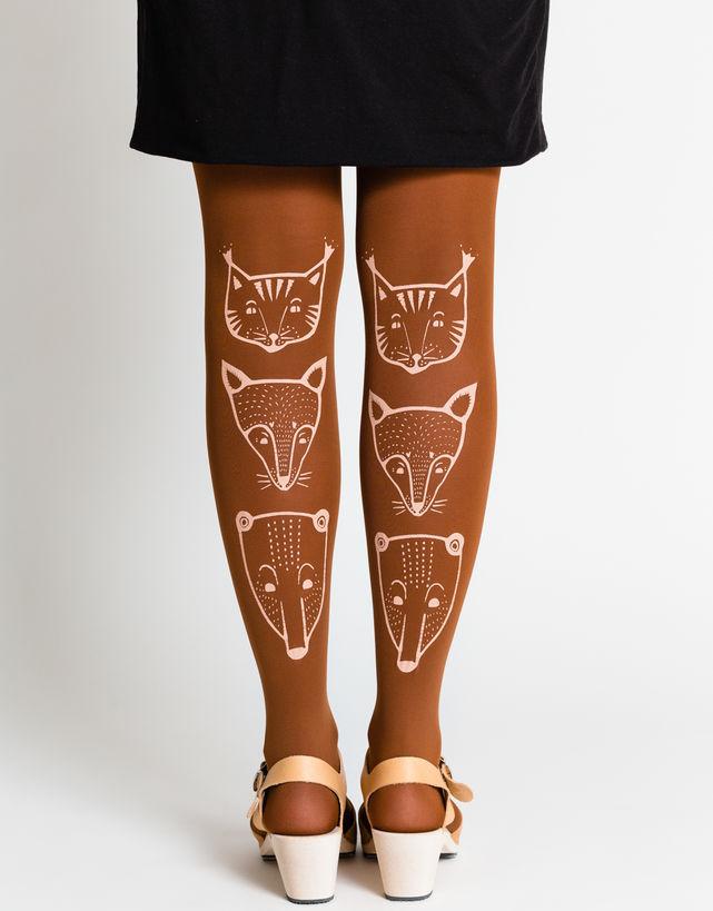 Toteemieläimet sukkahousut, kinuski - Mary a. jalava