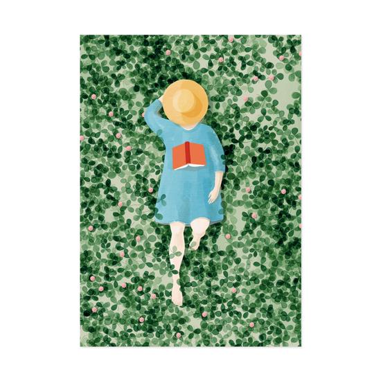 Lukija postikortti - Polka Paper
