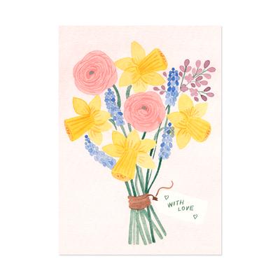 Kevätkimppu postikortti - Polka paper