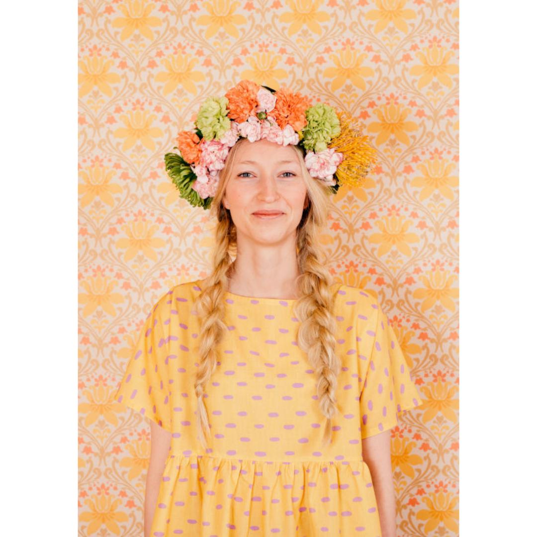 Sesilia mekko keltainen - Kaisa Turtiainen
