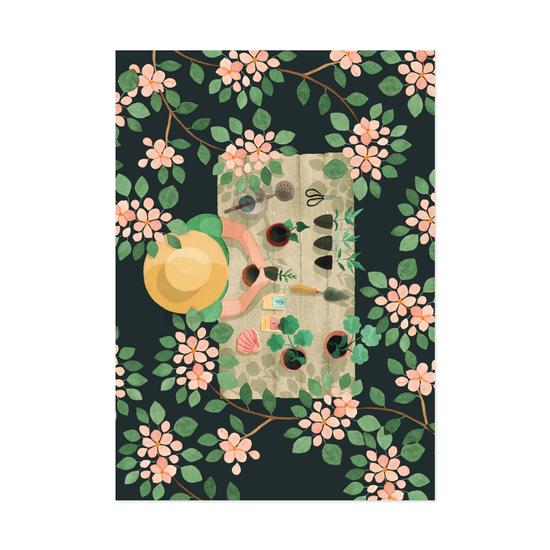 Omenatarha postikortti - Polka Paper