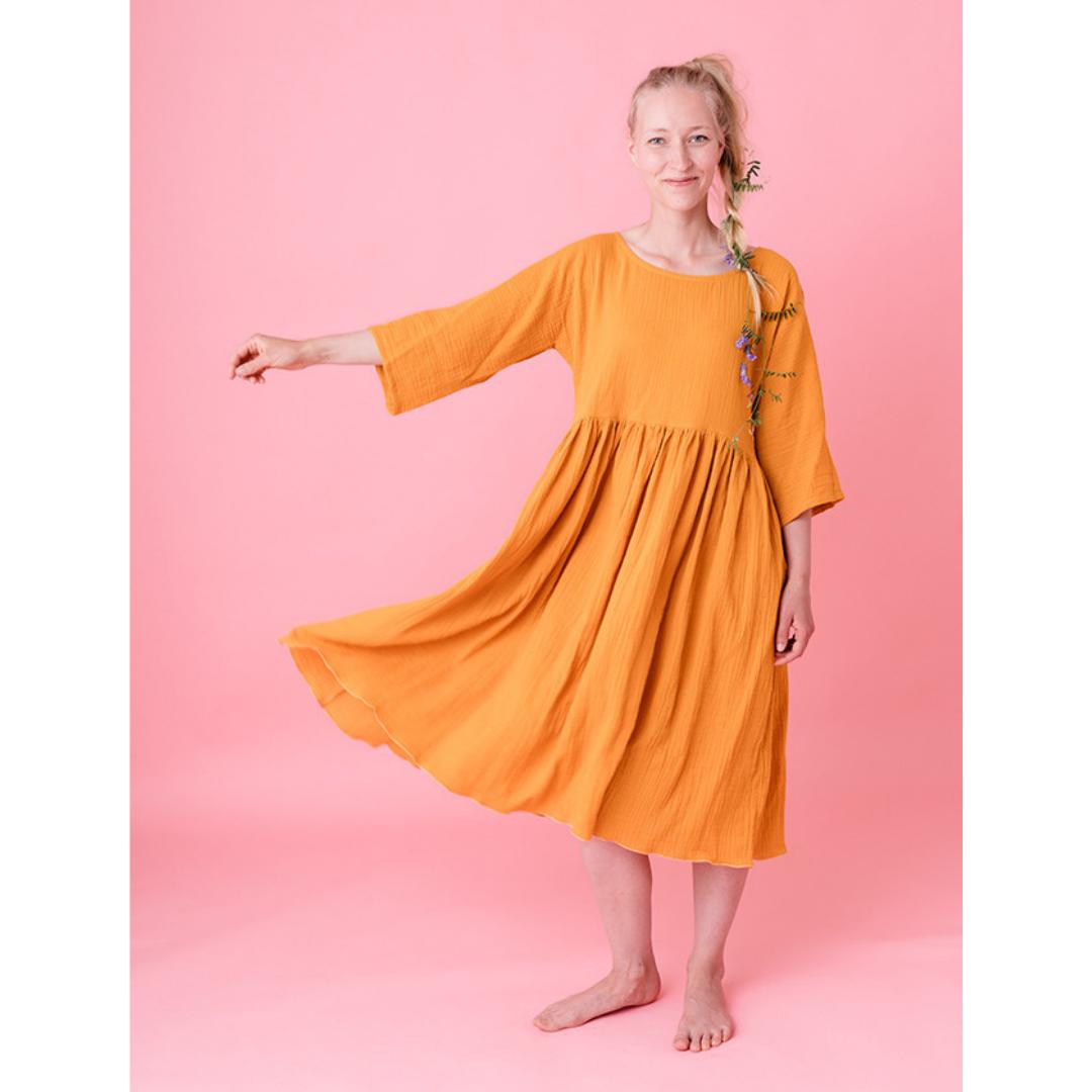 Liisi-mekko keltainen - Kaisa Turtiainen