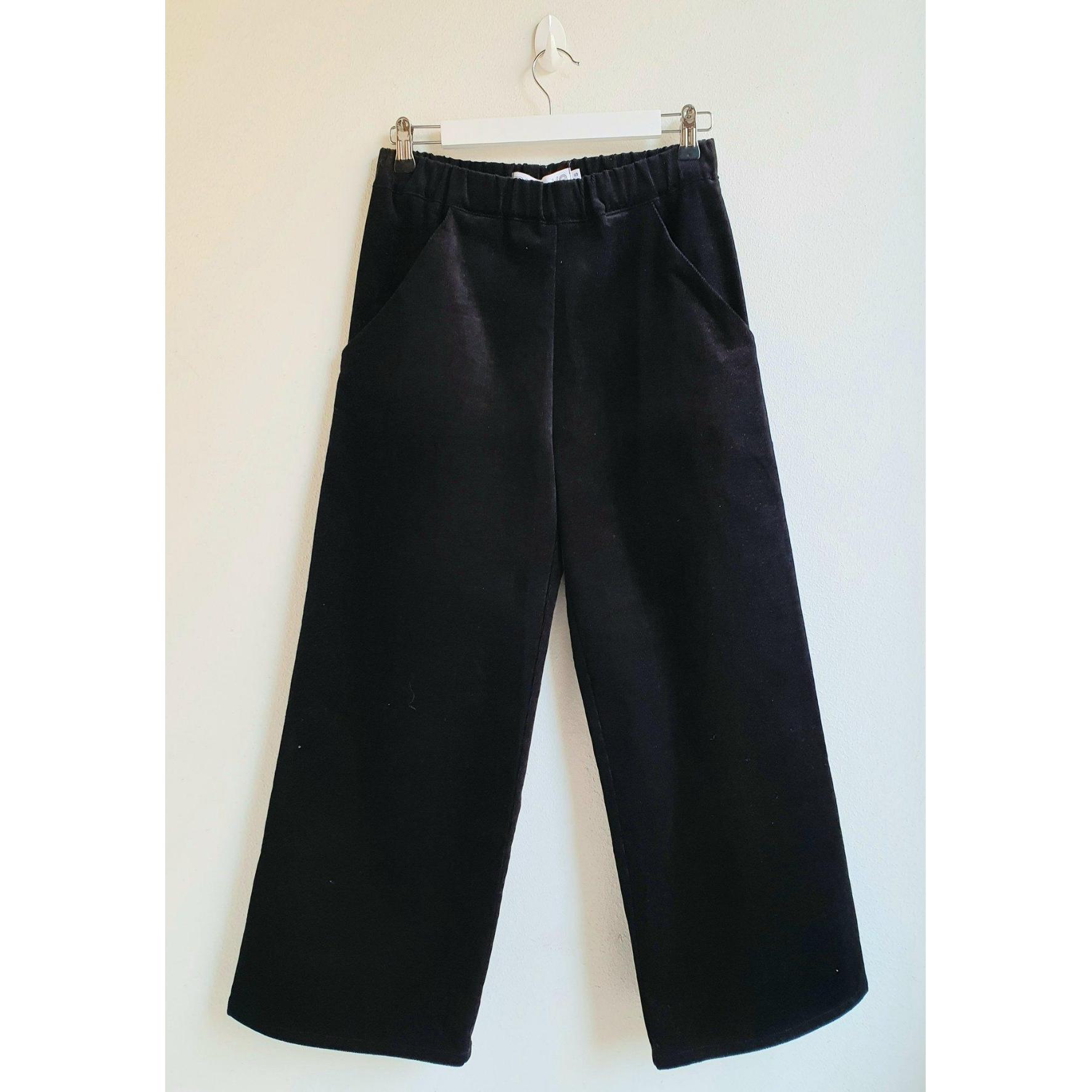 Hulda housut musta sametti - Mukava