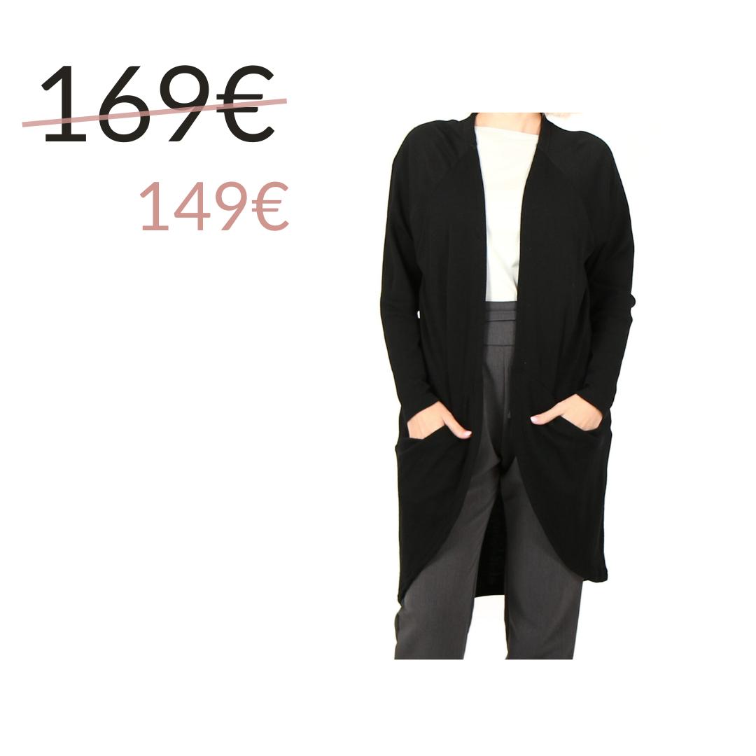 Musta taskuneuletakki - Vietto