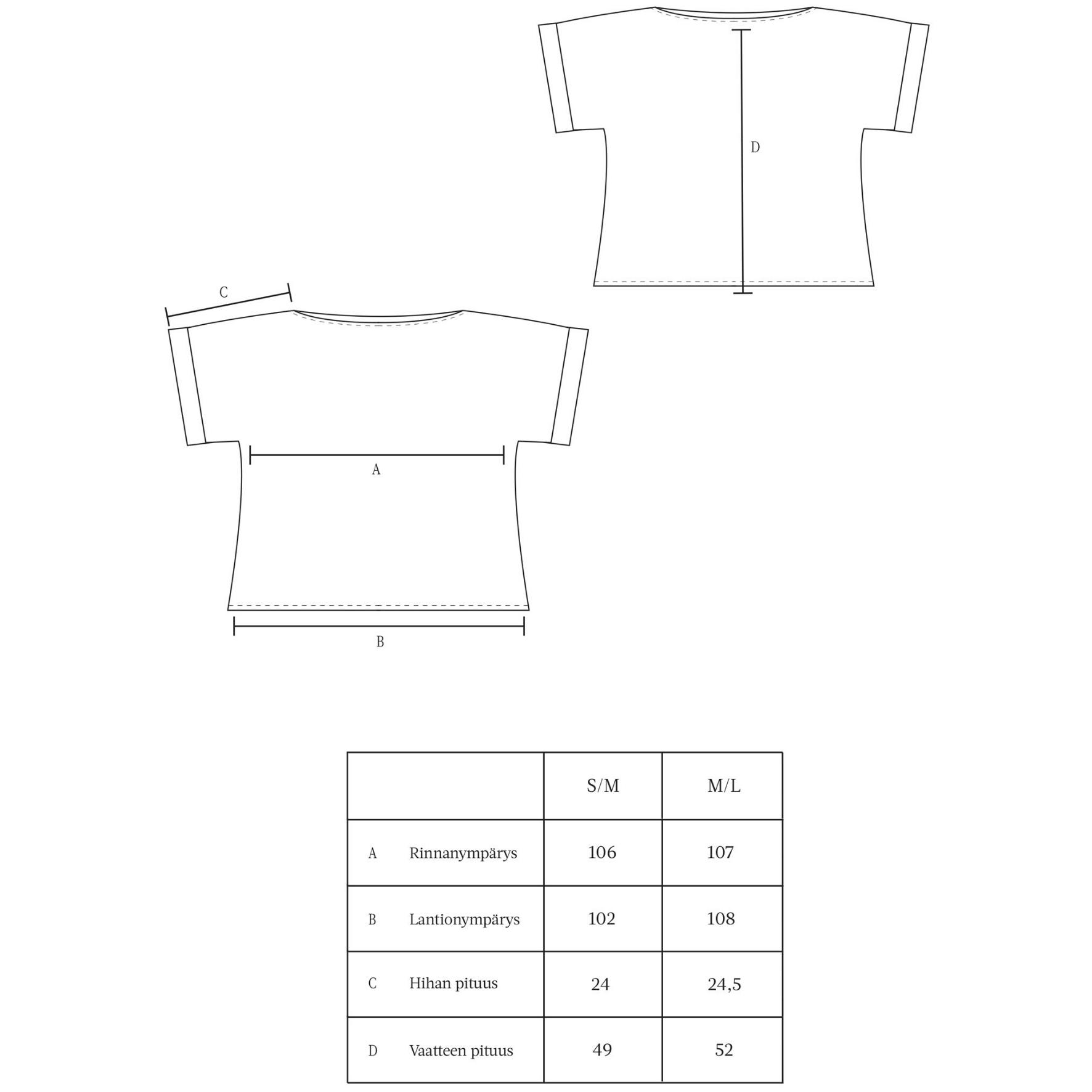 Lissu t-paita (pellava oranssi) - Mukava