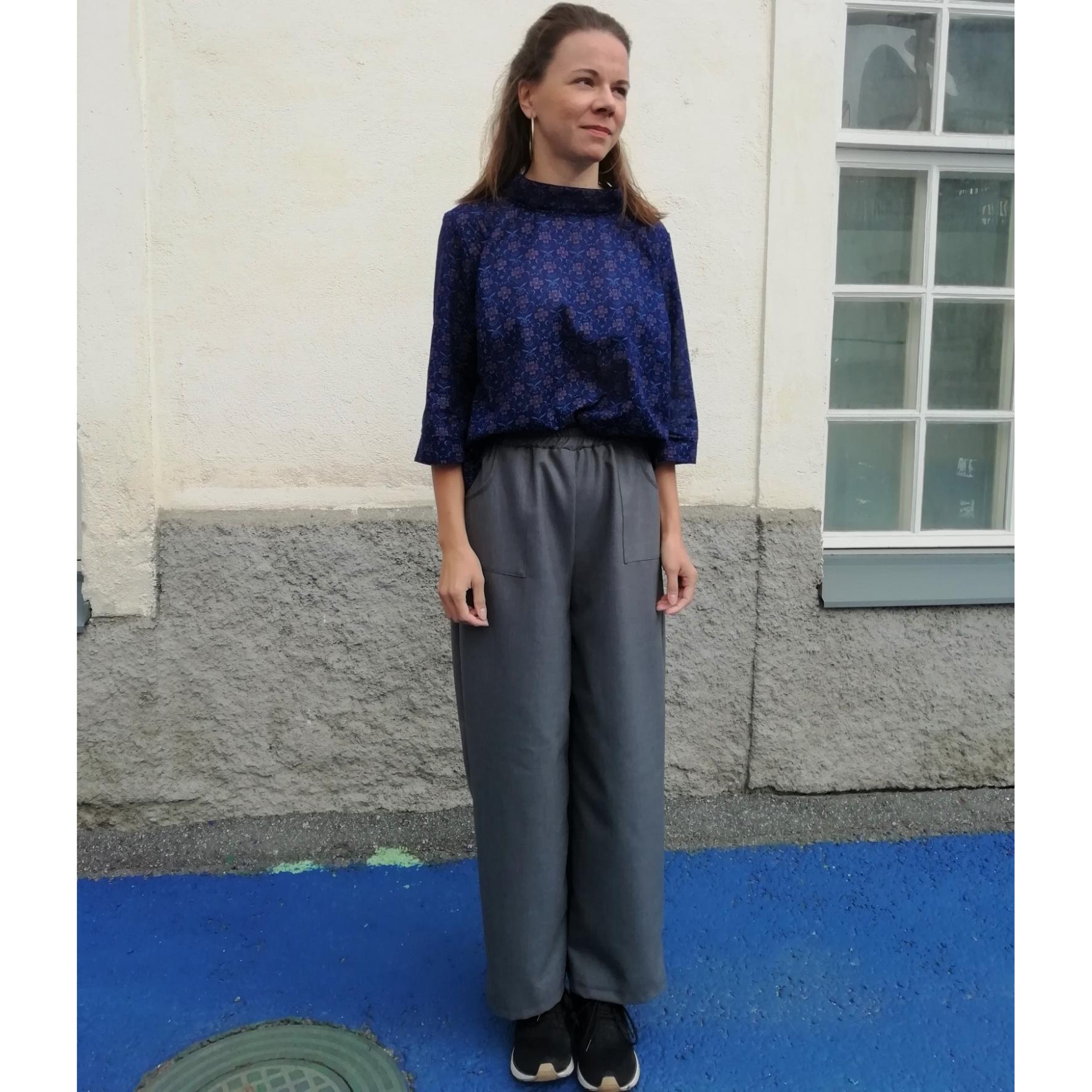 Harmaat kierrätyskankaiset housut - Aana Ilona