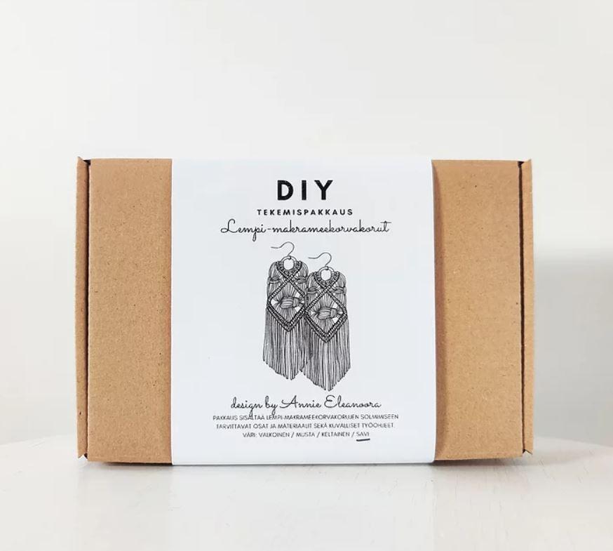 Lempi-makrameekorvakorut DIY-tekemispakkaus - Annie Eleanoora