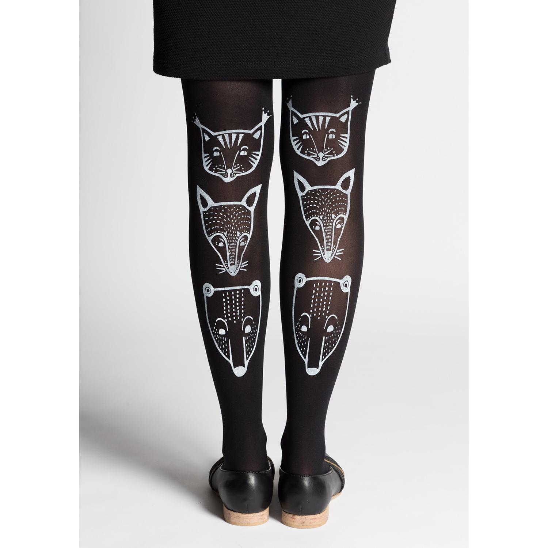 Toteemieläimet sukkahousut, musta - Mary a. jalava