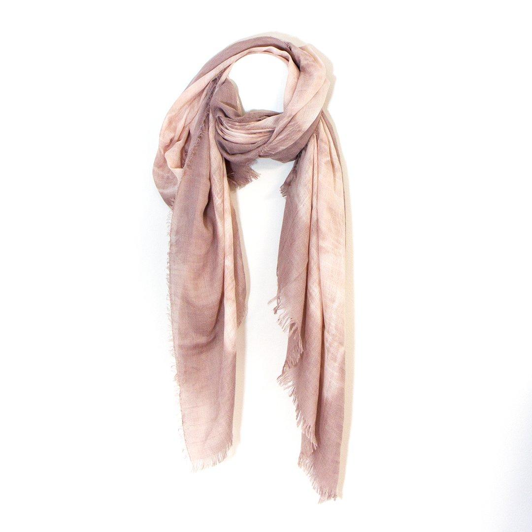 Plain Pink Tie Dye Scarf