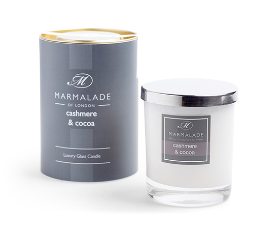 Cashmere & Cocoa Glass Candle
