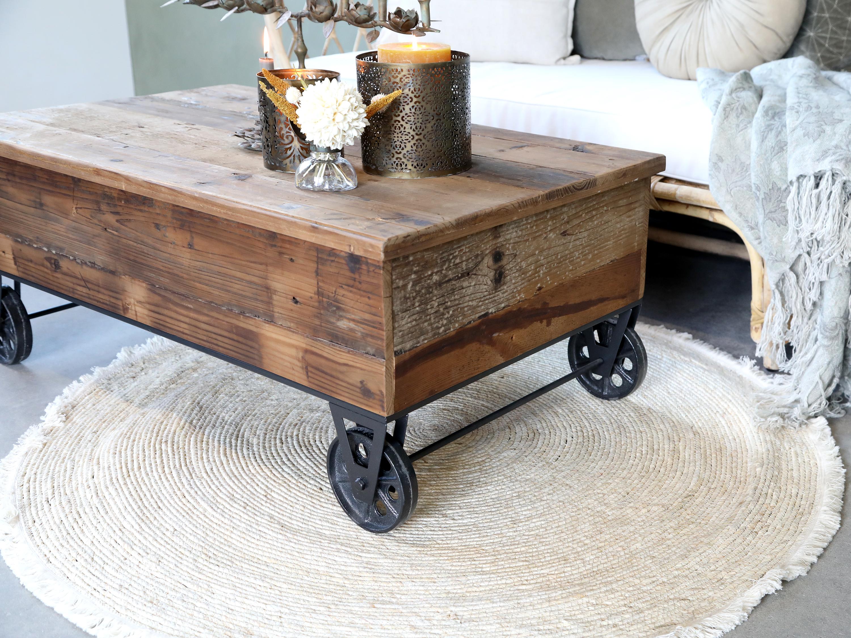 Coffee Table  'Wheels'