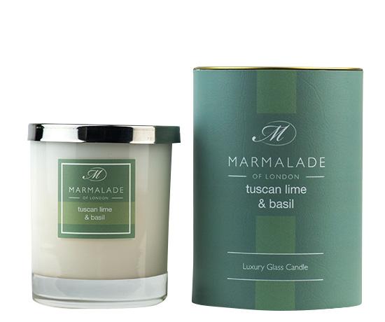 Tuscan Lime & Basil Glass Candle