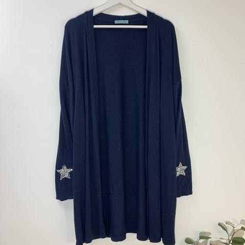 Cardigan with Crystal Star Detail