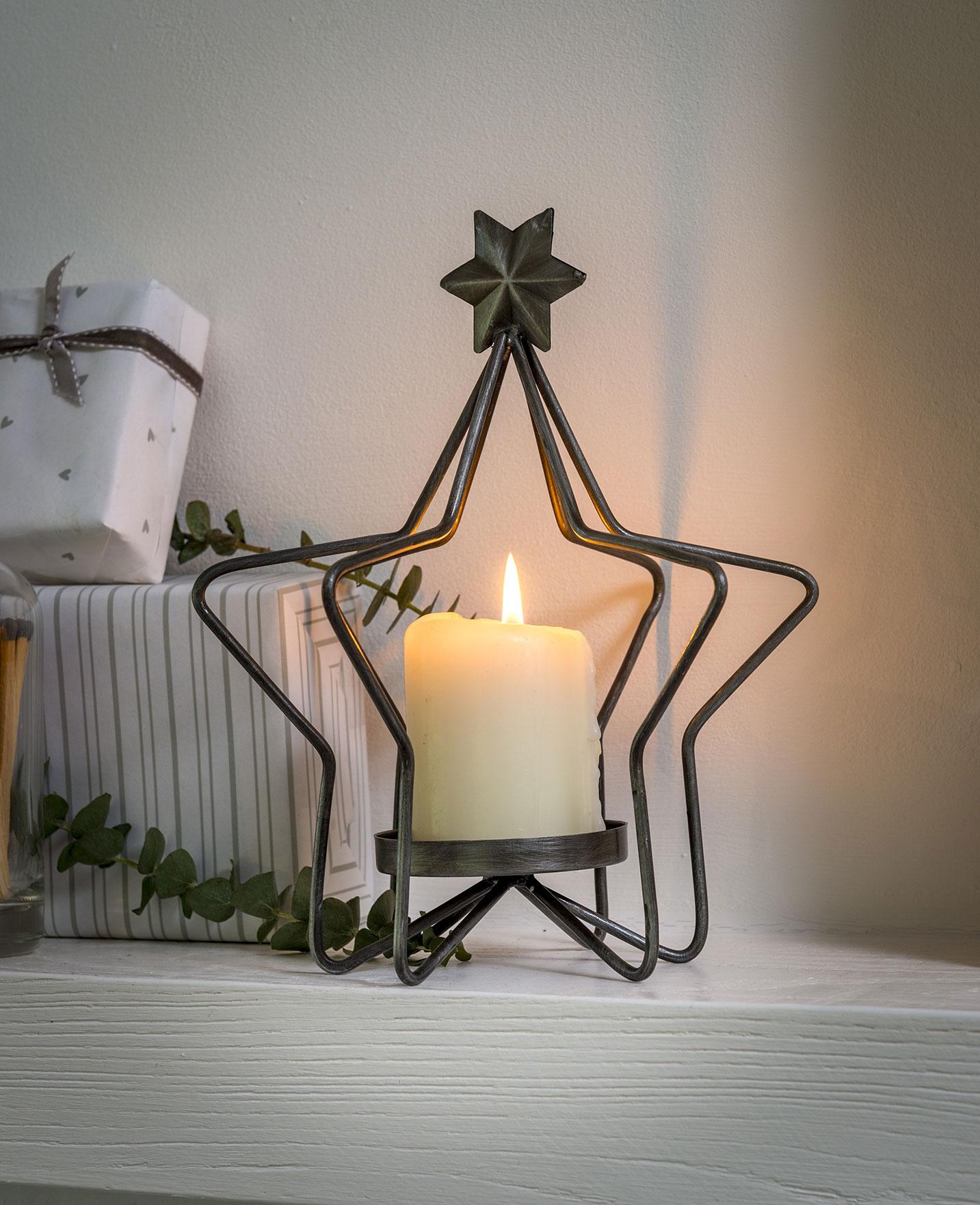 Wire 3D Star Candleholder