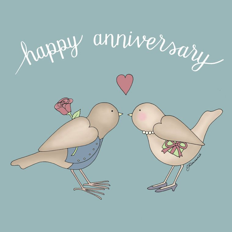 Anniversary Birds Card