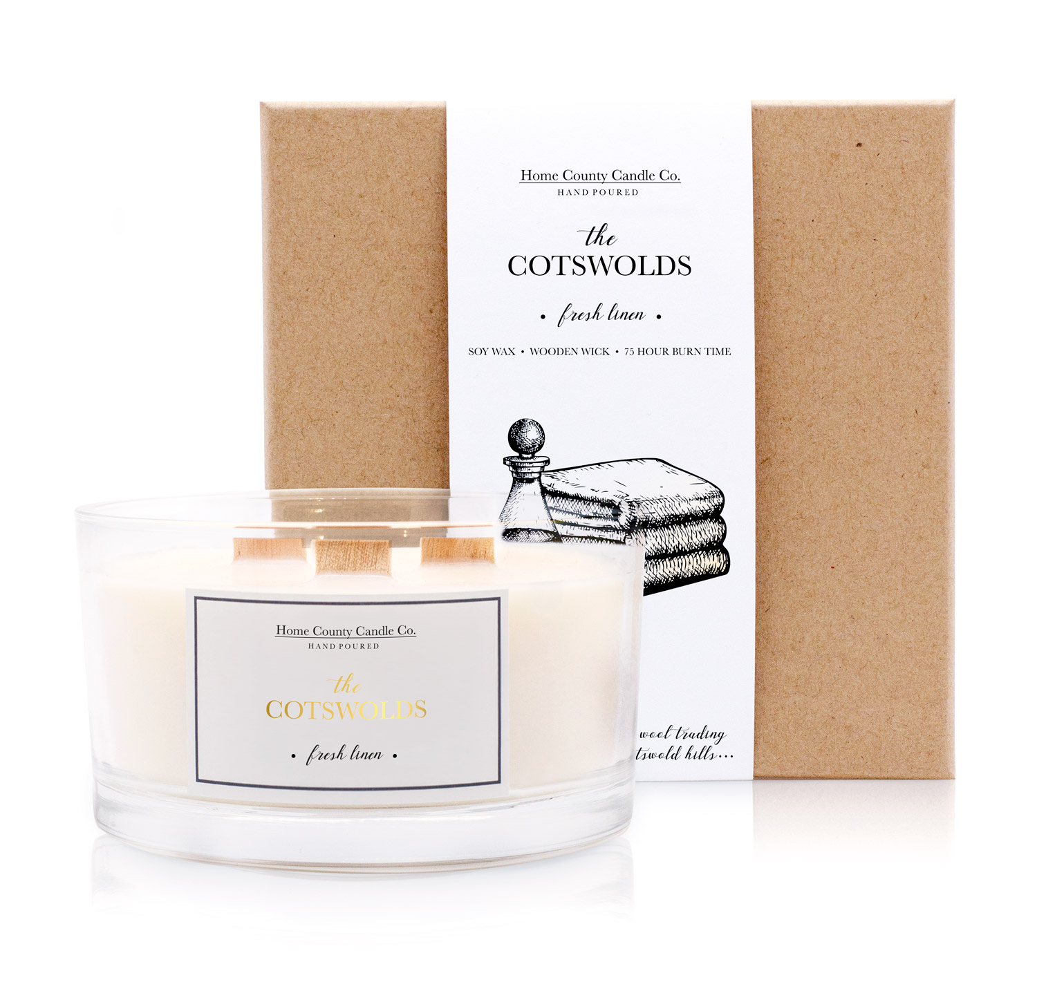 The Cotswolds 3 Wick Soy Candle