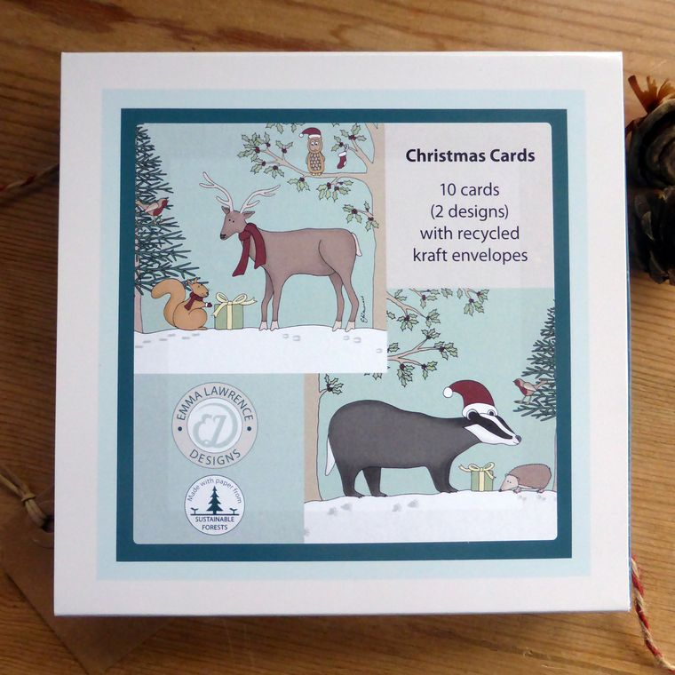 Woodland Boxed Christmas Cards - Pack of 10