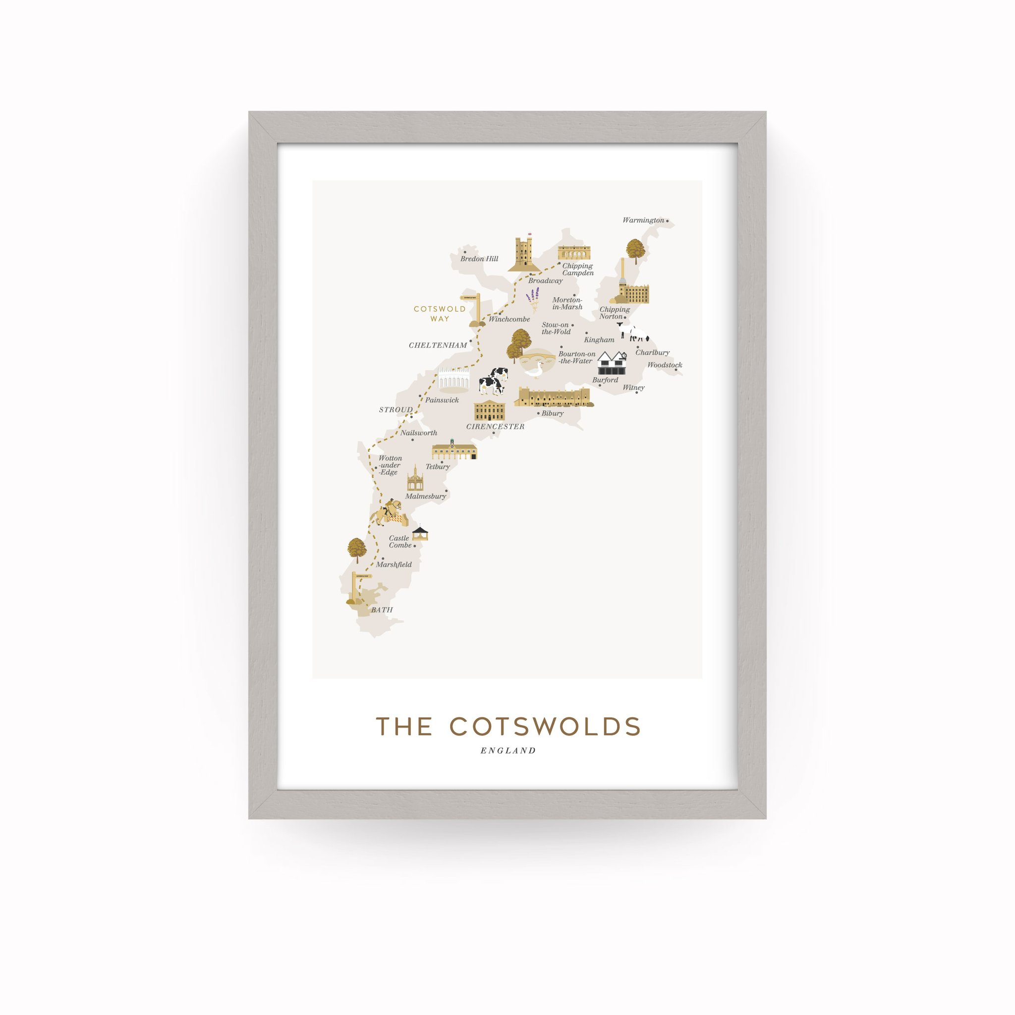 Cotswolds Framed Print A4