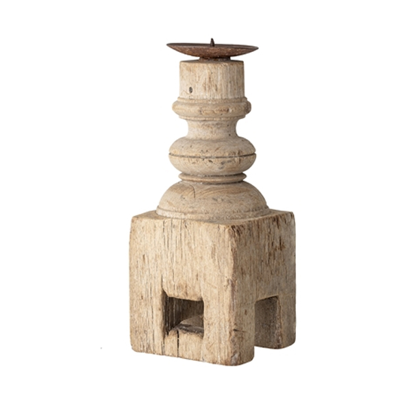 RECLAIMED WOODEN CANDLE HOLDER
