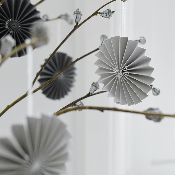 PALE GREY PAPER DECORATION