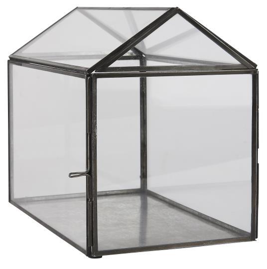 GLASS GREENHOUSE WITH OPENING DOOR