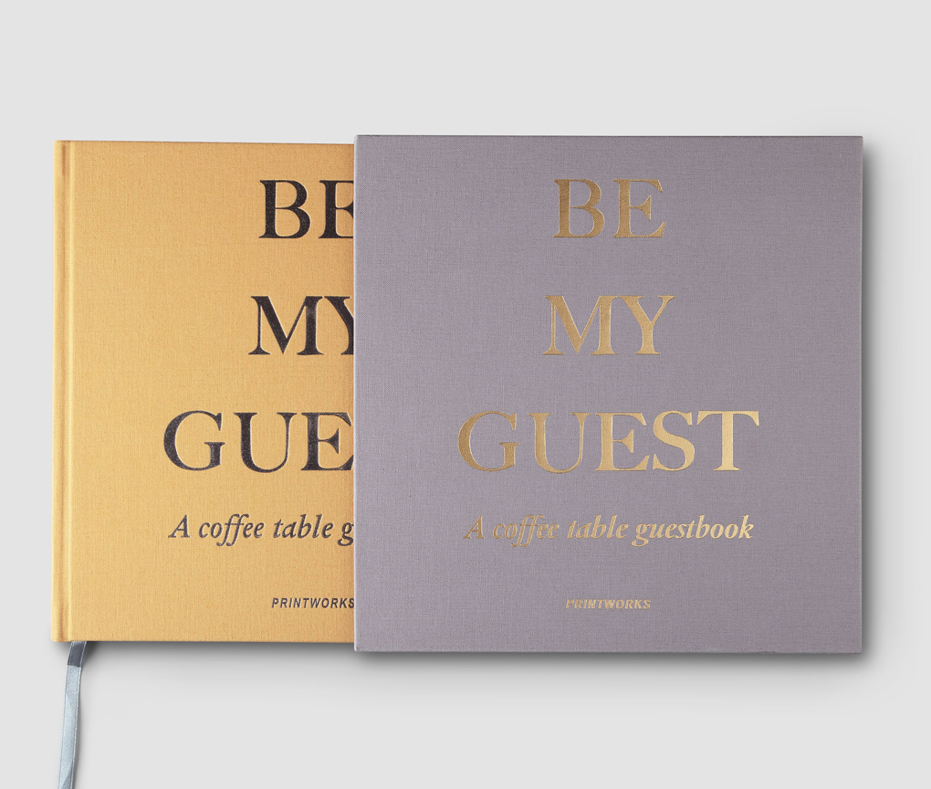 PRINTWORKS GUEST BOOK BEIGE/YELLOW