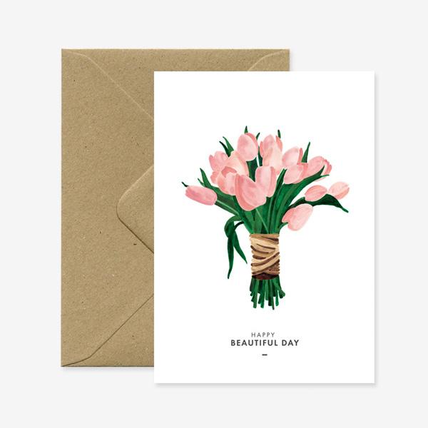 BEAUTIFUL TULIP GREETINGS CARD