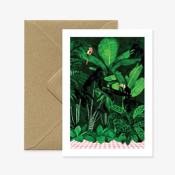 JUNGLE GREETINGS CARD