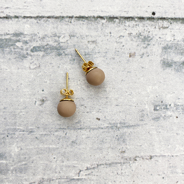 COCOA & GOLD MOCHA STUD EARRINGS