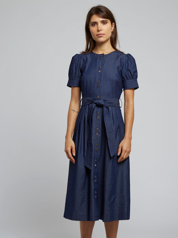 LOUCHE DAYAN CHAMBRAY MIDI TEA DRESS {was £59}