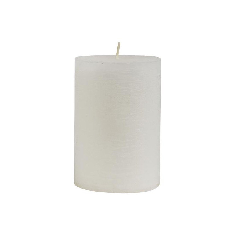 RUSTIC CANDLE WHITE 10X7CM 35 HOURS