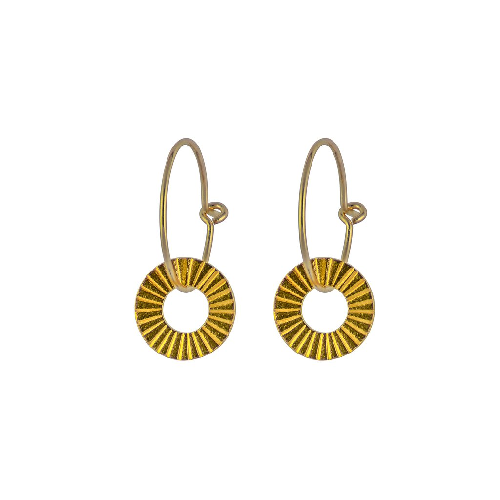 1939 GOLD SURF EARRINGS