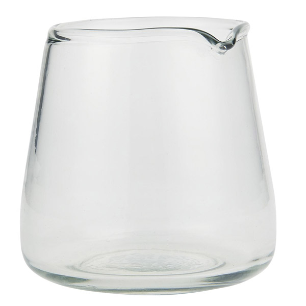 HANDBLOWN GLASS PITCHER WITH SPOUT