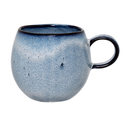SANDRINE MUG BLUE STONEWARE