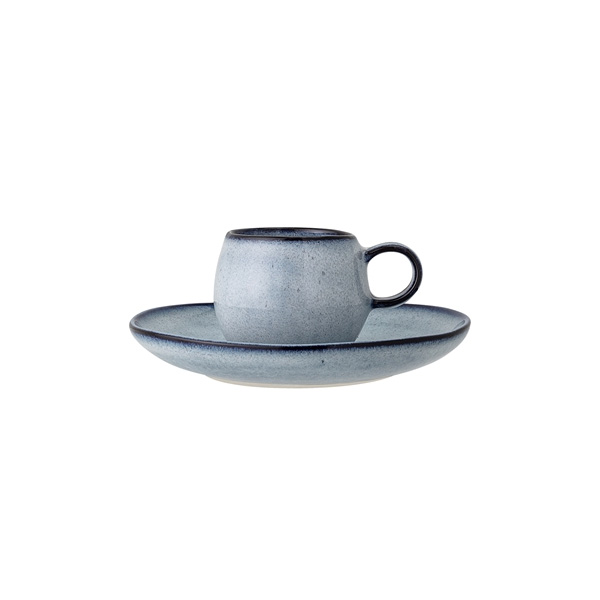SANDRINE ESPRESSO CUP AND SAUCER BLUE