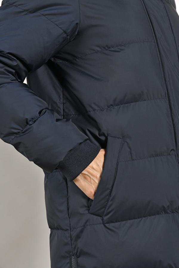 MAT DE MISAINE FEROS NAVY PUFFA COAT LONG