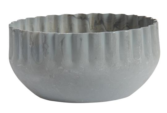 WAVY EDGE ZINC CANDLE HOLDER FOR DINNER CANDLES