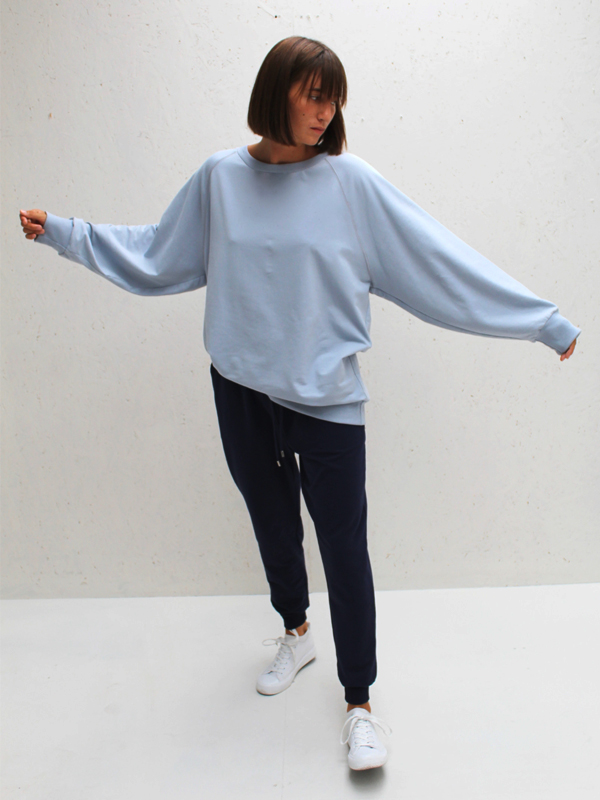 CHALK PALE BLUE SWEATSHIRT JUMPER