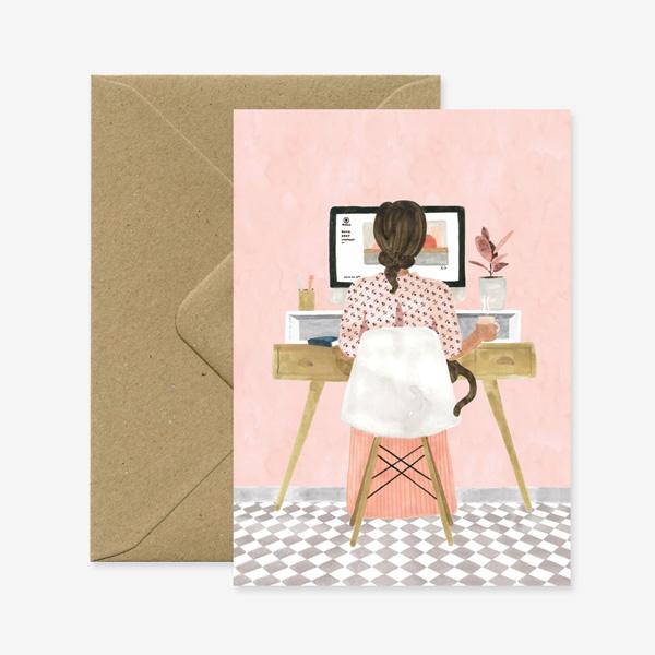 GIRL BOSS GREETINGS CARD